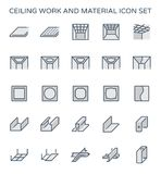 Ceiling work icon. Ceiling work and material icon set vector illustration