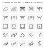 Ceiling work icon. Ceiling work and material icon set royalty free illustration