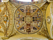 Ceiling in the yard of Palazzo Piccolomini e delle Papesse. Siena, Italy Royalty Free Stock Image