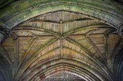 Ceilings and arches - The famous abbey ruins of the monastery at Melrose. Ceilings and arches St Mary`s Abbey Melrose. it is a partly ruined monastery of the royalty free stock photography