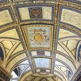 Ceilings Art in the Vatican Museum Stock Photo