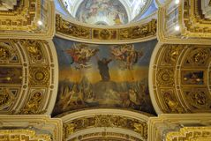Ceilings of a cathedral Royalty Free Stock Photography