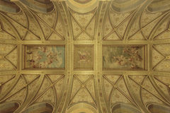Ceilings at Hungarian Parliament Building in Budapest Royalty Free Stock Photo