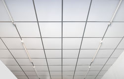 Ceilings indoor white square Royalty Free Stock Photo