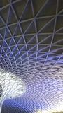Ceilings at Kings cross station. In London, UK stock photography