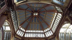 Ceilings at Leadenhall Market in London, UK. Ceilings leadenhall market london art architecture royalty free stock photos