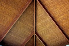 Ceilings are made of rattan mats. Stock Image