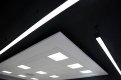 Ceilings. Of the modern office interior stock photography
