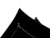 Ceilings. Shot in black and white, a view on these buddhist temple ceilings, set in Kyoto, Japan, Asia royalty free stock image