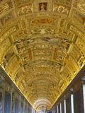 Vatican City has many beautiful frescoes and mosaics. The ceilings and walls within Vatican City have many gorgeous frescoes and mosaics displayed. Religious royalty free stock photography