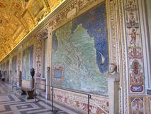 Vatican City has many beautiful frescoes and mosaics. The ceilings and walls within Vatican City have many gorgeous frescoes and mosaics displayed. Religious stock photos