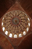 Ceilling decoration of the kalendar mosque. Decorated ceiling of the kalendar mosque, a former byzantine church, in istanbul, turkey stock photo