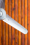 Ceilling fan. On the wooden ceilling royalty free stock photo