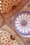 Ceilng bij de Blauwe Moskee in Istanboel Royalty-vrije Stock Afbeeldingen