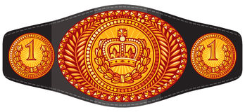 Ceinture de champion illustration libre de droits