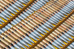 Ceinture de munitions, chaîne de guerre de cartouches Images stock