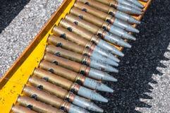 Ceinture de munitions, chaîne de guerre de cartouches Photos libres de droits