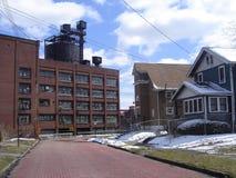 Ceinture de rouille d'Akron, Ohio Image stock