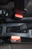 Ceinture de sécurité dans la voiture Photo libre de droits