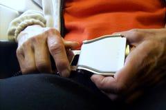 Ceinture de sécurité en l'avion. Photos stock
