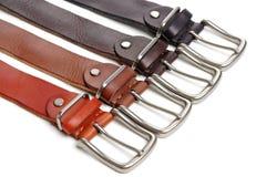 ceintures sur un fond courroies courroies image libre de droits