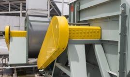 Ceinturez la protection de sécurité de garde pour le moteur du ventilateur Photo stock
