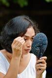 Ceja de la cosecha de la mujer joven Foto de archivo libre de regalías