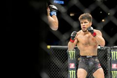 Cejudo vs Moraes at UFC 238 royalty free stock image