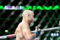 Cejudo vs Moraes at UFC 238 royalty free stock photo