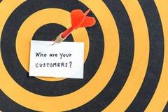 Celów klienci wprowadzać na rynek pojęcie Fotografia Stock