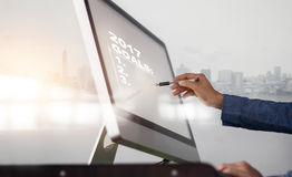 2017 celów lista na ekranie komputerowym, biznesowy pojęcie Obraz Royalty Free