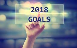 2018 celów pojęcie z ręką Zdjęcie Royalty Free