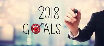 2018 celów z biznesmenem obrazy stock