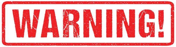 Cel Czerwonej foki Szorstcy listy Odizolowywający na bielu Czerwona atramentu Grunge pieczątki imitacja royalty ilustracja