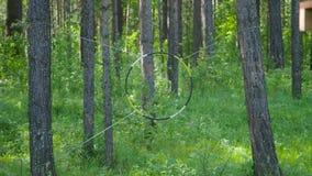 Cel dla dardy rozciągającej na drewnie zapas Antyczna zabawa Pojęcie kulturalna konserwacja obraz stock