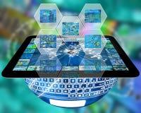 Cel en tablet Stock Afbeelding