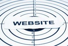 cel strona internetowa Zdjęcia Stock