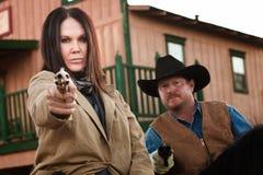 cel strzela starych partnerów na zachód Fotografia Stock
