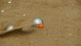 cel w gemowym bocce zdjęcie wideo