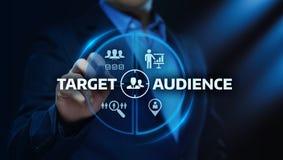 Cel widowni technologii Marketingowy Internetowy Biznesowy pojęcie zdjęcie royalty free