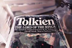 Free Celadna, Czechia - 04.03.2021: Vintage Paperback Edition Of Tolkien`s Lord Of The Rings Royalty Free Stock Photos - 215340828