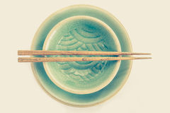 celadon ceramic dish Stock Image