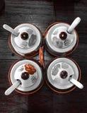 Celadon set. Celadon seasoning set ceramic Stock Photos
