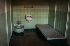 Celda de prisión de Alcatraz Foto de archivo