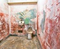Celda de prisión en la isla de Alcatraz Imagen de archivo