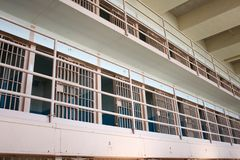 Celdas de prisión en Alcatraz Fotos de archivo