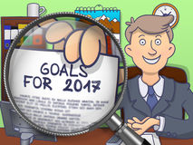 Cele dla 2017 przez obiektywu Doodle projekt Obraz Royalty Free