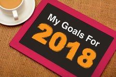 Cele i plany dla 2018 nowy rok postanowienia pojęcia Fotografia Stock