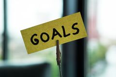 Cele pisać na notatce obrazy stock