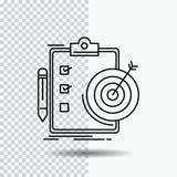cele, raport, analityka, cel, osiągnięcie Kreskowa ikona na Przejrzystym tle Czarna ikona wektoru ilustracja ilustracja wektor